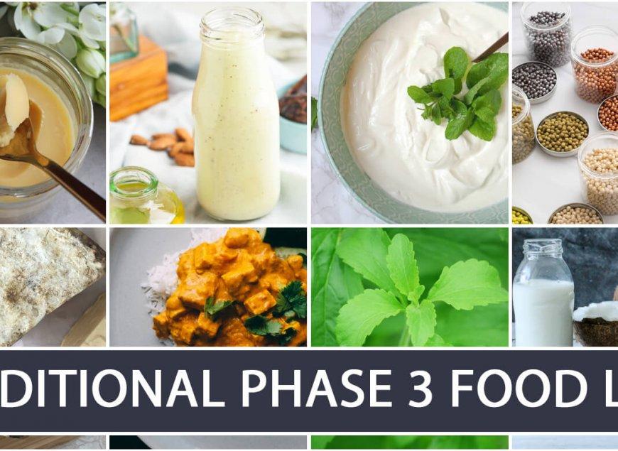 Additional Phase 3 Food List