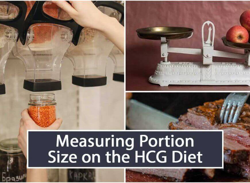 Measuring Portion Size on the HCG Diet
